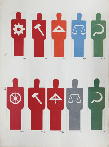 Isotype 'Picture dictionary' leaf from binder, Gerd Arntz, 1929-33, from the Otto and Marie Neurath Collection, Department of Graphic Communication, University of Reading ©  Isotype revisited 2009–19.
